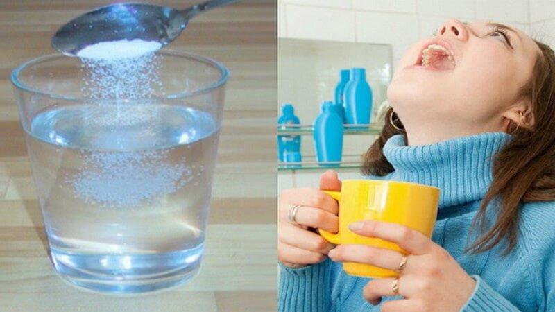 Nước muối có tác dụng trong việc kháng khuẩn rất tốt.