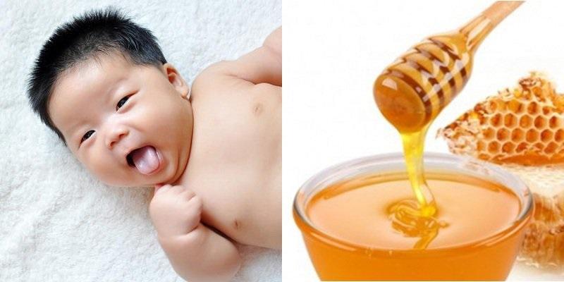 Dử dụng mật ong rừng nguyên chất 100% để rơ lưỡi cho trẻ