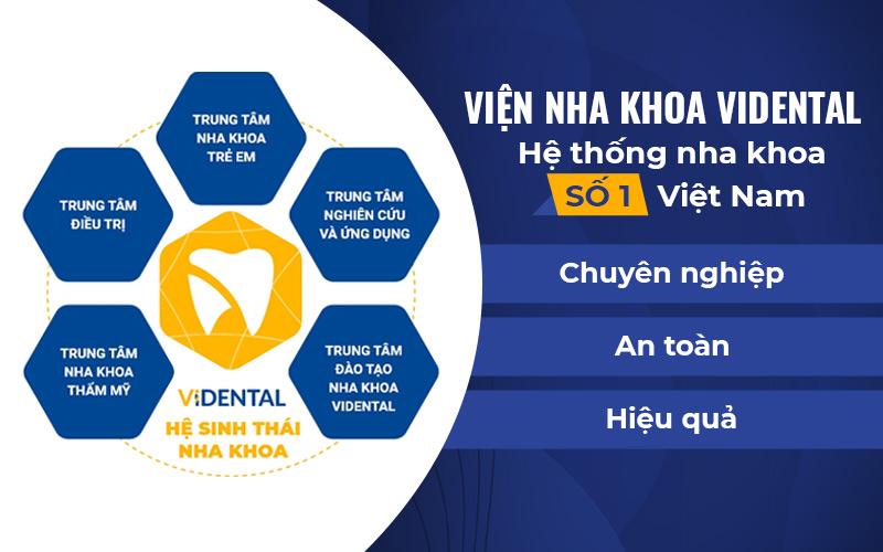 Viện nha khoa Vidental và các trung tâm trực thuộc
