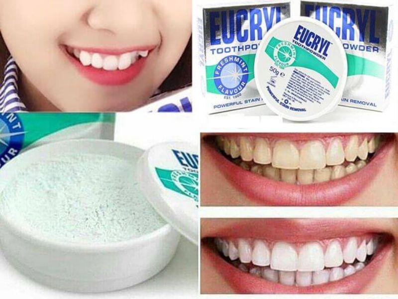 Ưu điểm của bột tẩy trắng răng Eucryl