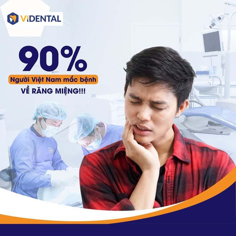 90% người Việt mắc phải các bệnh về răng miệng