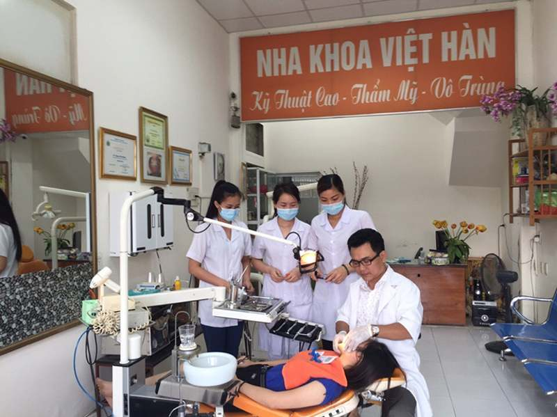 Nha khoa Việt Hàn sở hữu nhiều trang thiết bị hiện đại