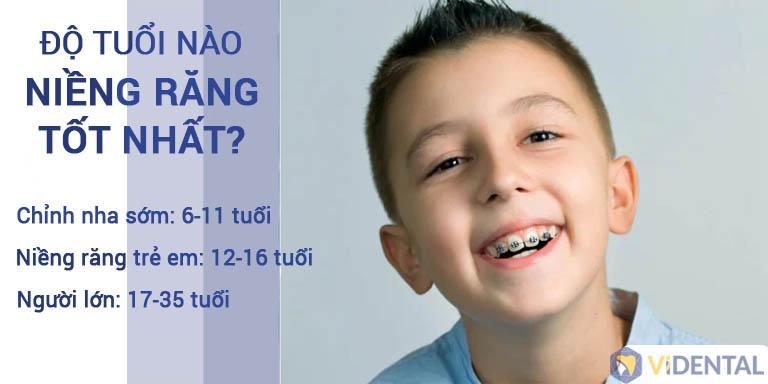 Thời điểm niềng răng đem lại hiệu quả tốt nhất cho trẻ