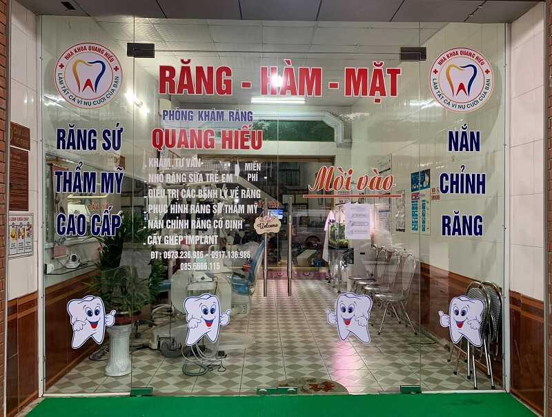 phòng khám nha Quang Hiếu tại Bắc Giang