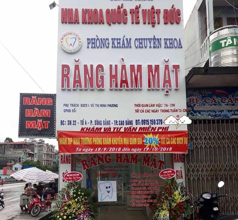Nha khoa Việt Đức ở Cao Bằng