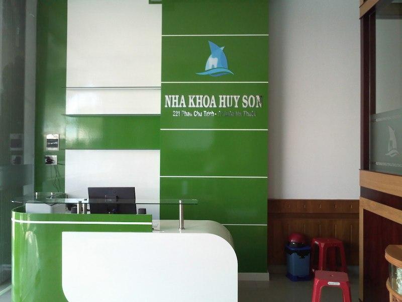 Phòng tiếp tân của nha khoa Huy Sơn ở Đắk Lắk