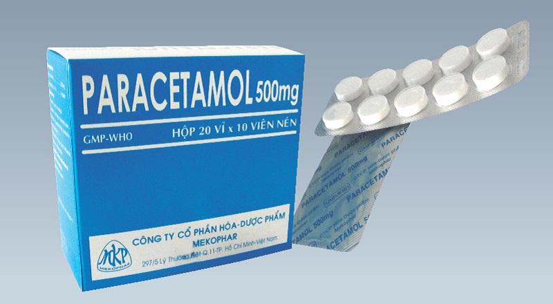 Sử dụng paracetamol để giảm các triệu chứng đau nhức